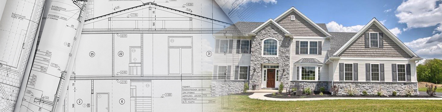 New home plan designed by local contractors in lancaster county