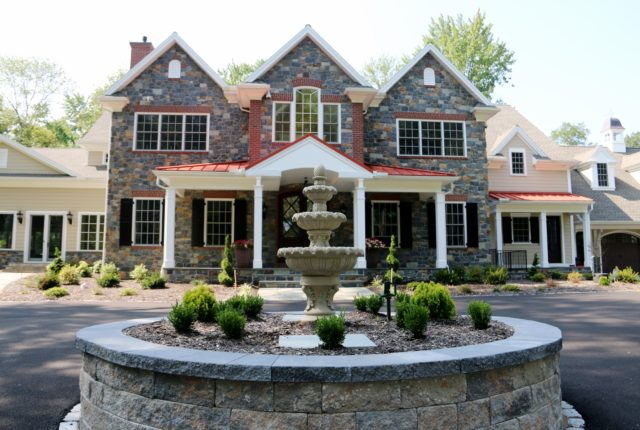 Front Lawn Fountain